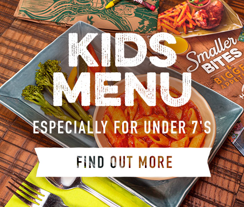 Kids menus available at Harvester Halbeath Park