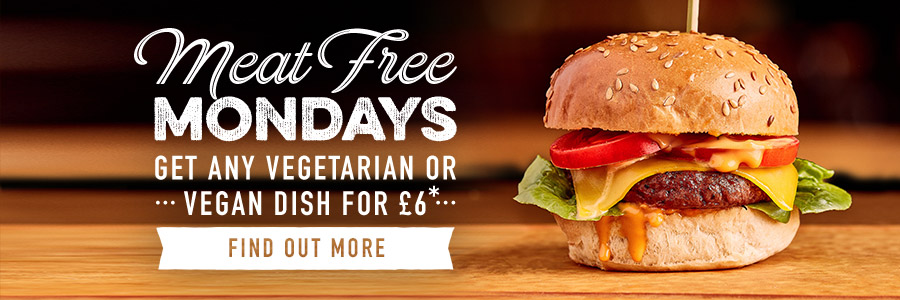 Meat Free Monday's at Harvester