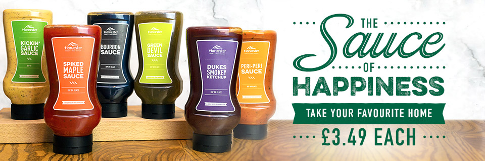 Sauces at Harvester