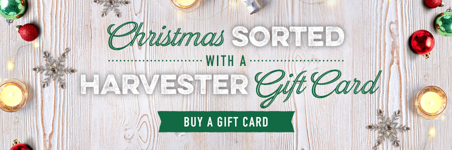 Giftcards at Harvester Whiteley