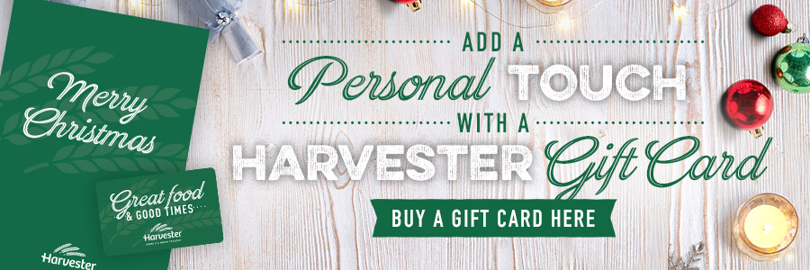Christmas Giftcards at Harvester Coed-Y-Gores