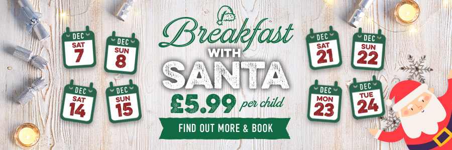 Breakfast with Santa at Harvester Weston Gateway