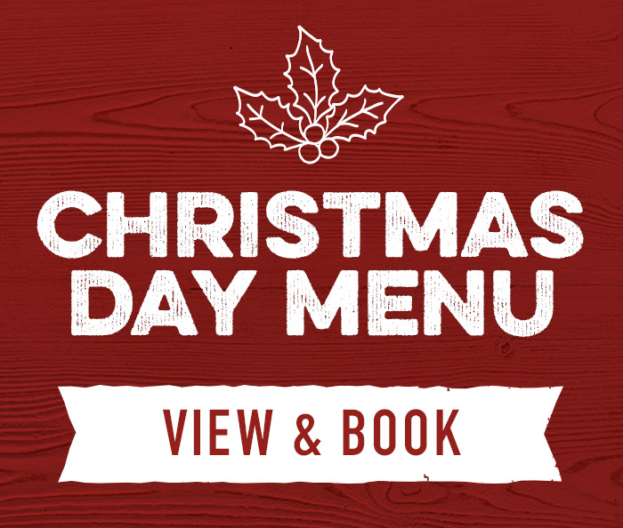 Christmas Day menu at Harvester