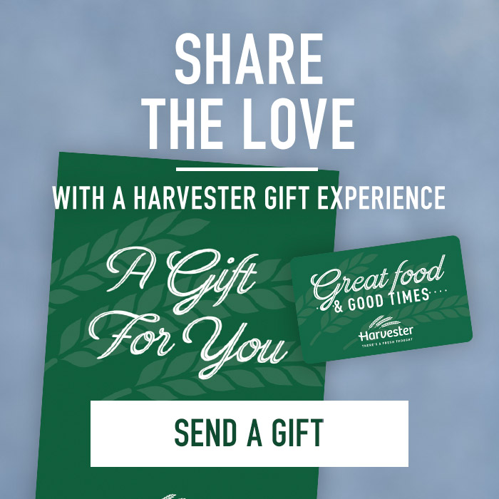 Share the love with a Harvester gift card