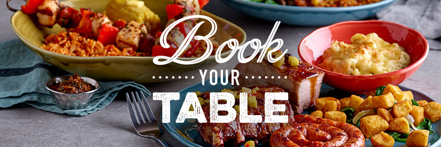 Book a table at the Harvester restaurant in Newport