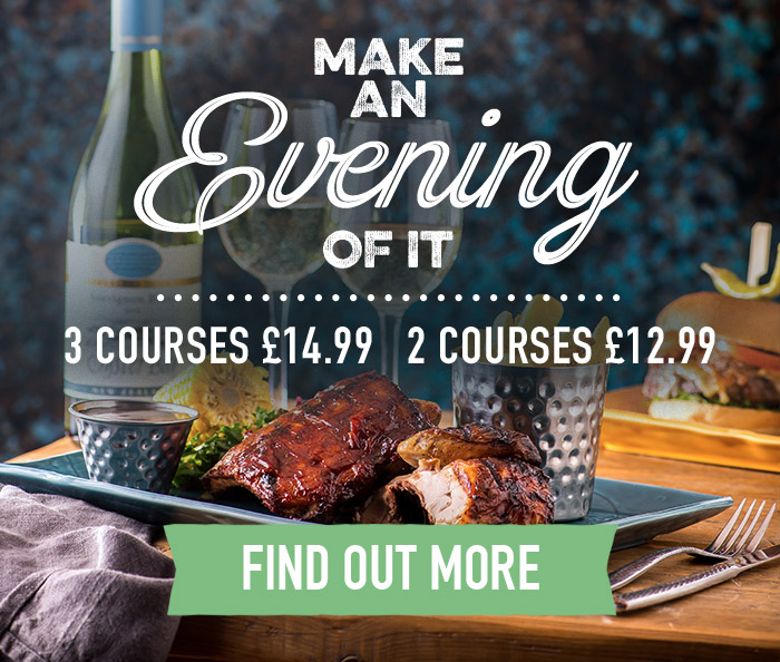 Evening Menu at Harvester Chesterfield