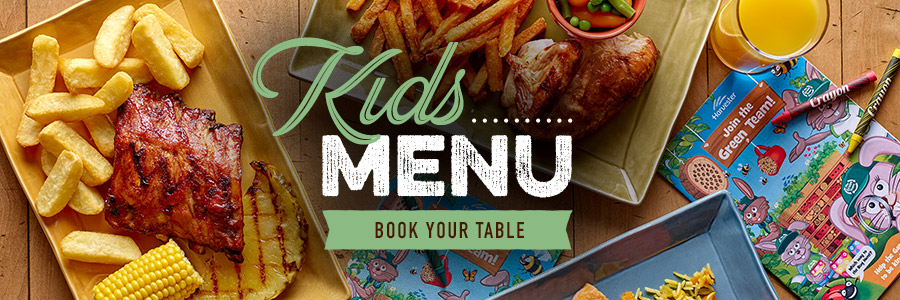 Kids menu at Harvester