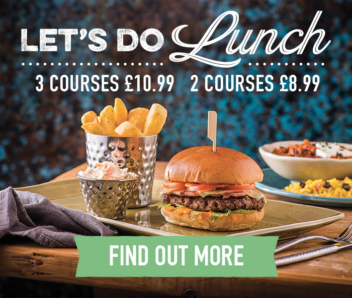 Lunch Menu at Harvester Didcot