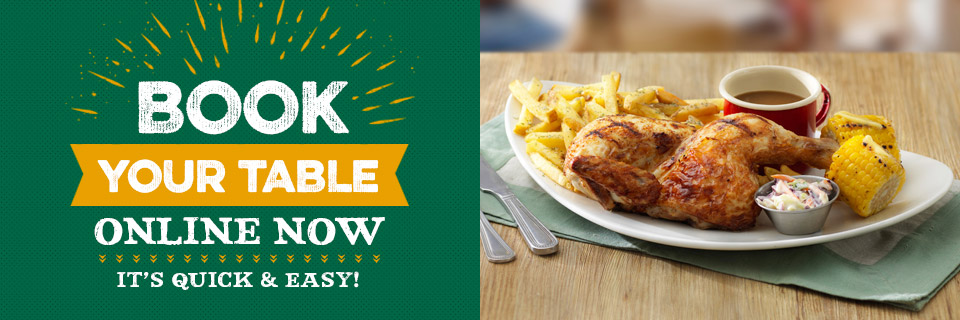 Book a table at the Harvester restaurant in Bromley.