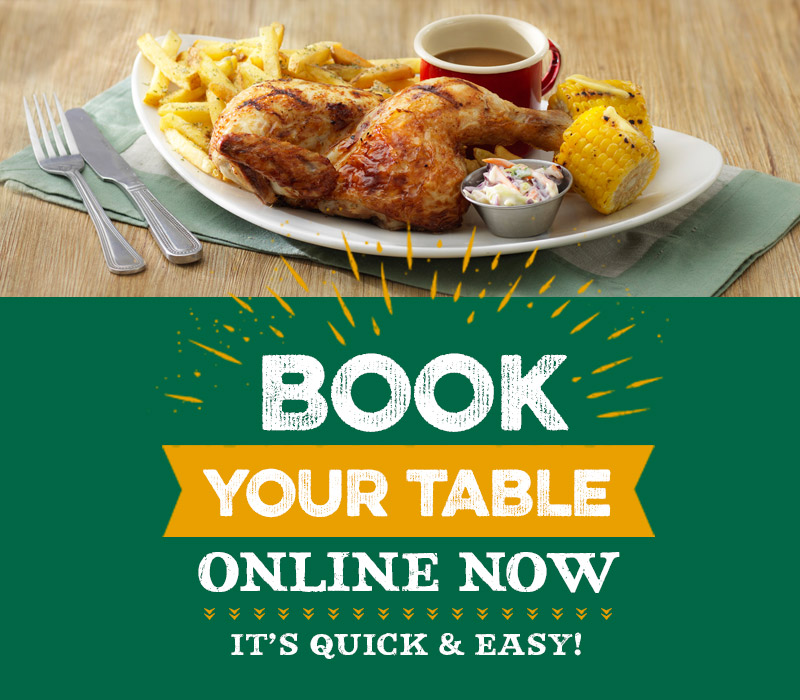 Book a table at the Harvester restaurant in Derby.