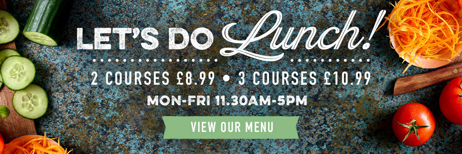 Lunch Menu at The Brayford Wharf