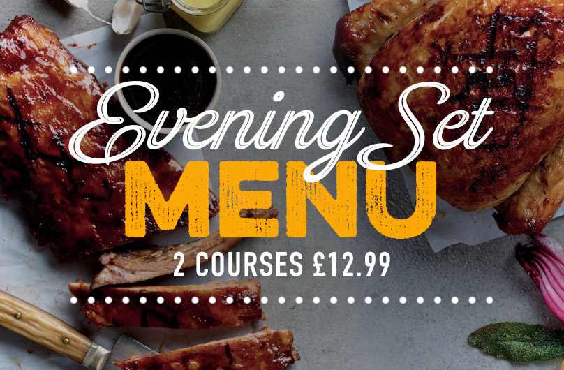 Evening Set Menu at Harvester The O2
