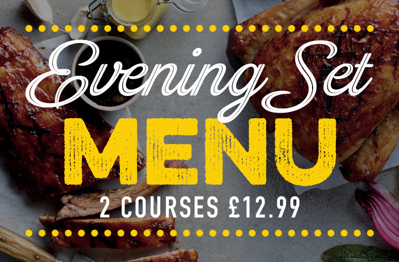 Evening Set Menu at Harvester Riverside