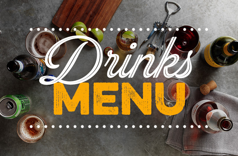 The new Drinks Menu at Harvester Cwmbran