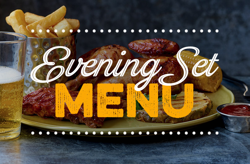 The new Evening Set Menu at Harvester The O2