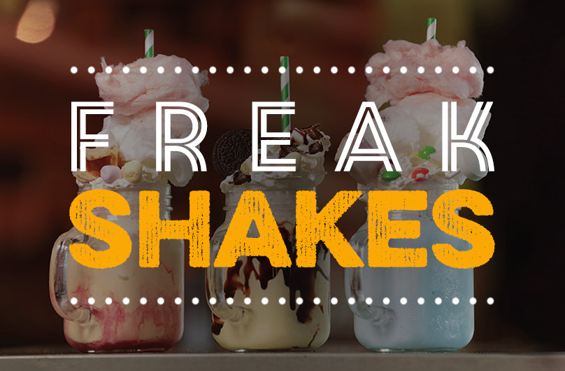 The new Freak Shakes Menu at Harvester Borderer