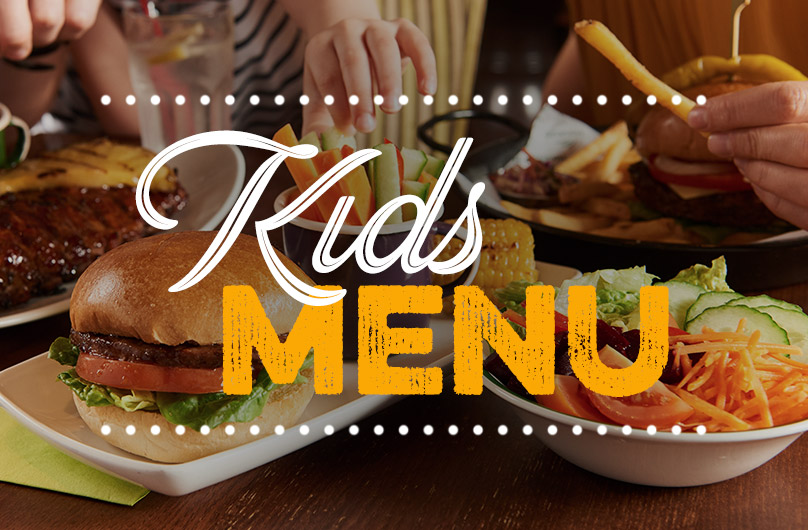 The new Kids Menu at Harvester The O2