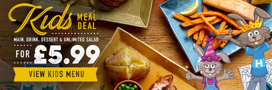 Kids Meal Deal at Harvester