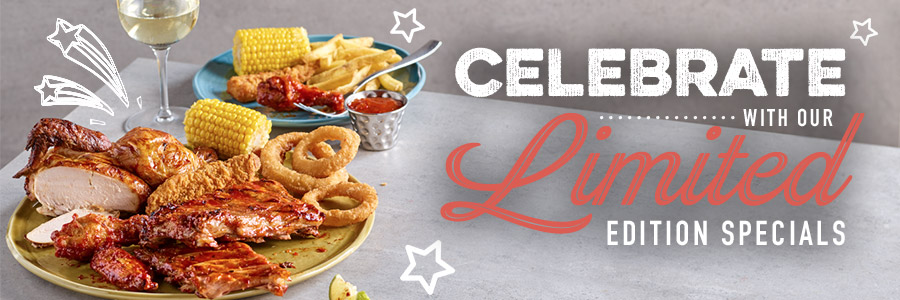 Celebrate with our limited edition specials