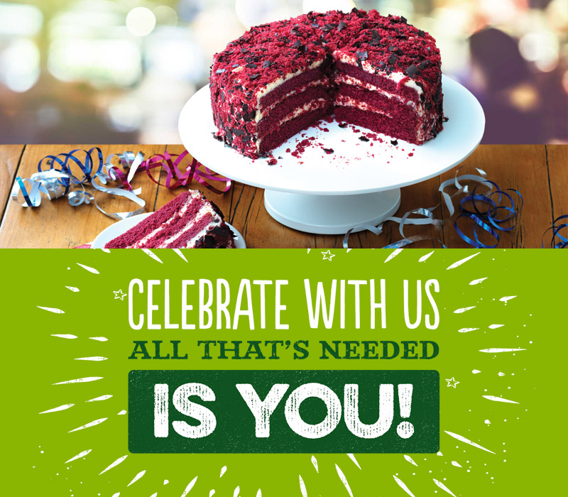 Celebrate at Harvester Alwalton