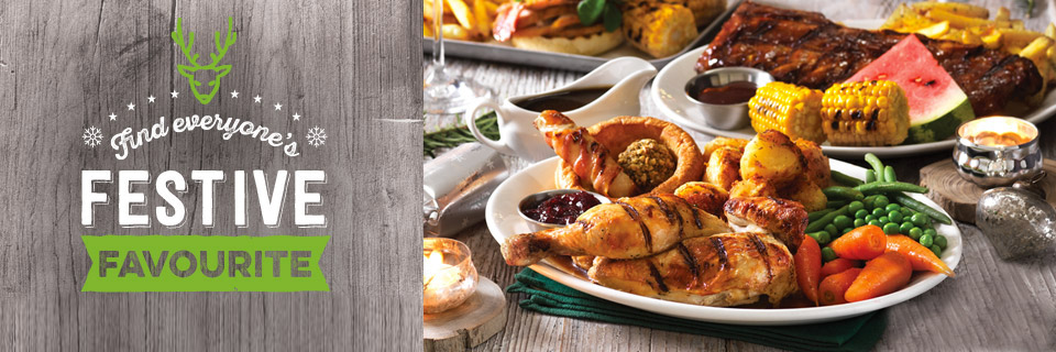 Find everyone's Festive favourite at Harvester Boldmere