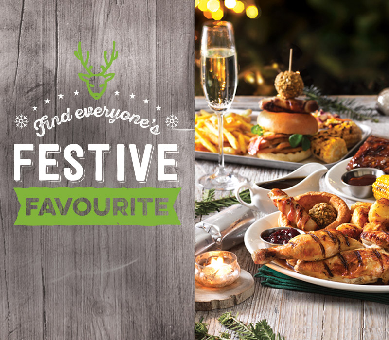 Find everyone's Festive favourite at Harvester Broad Street Plaza