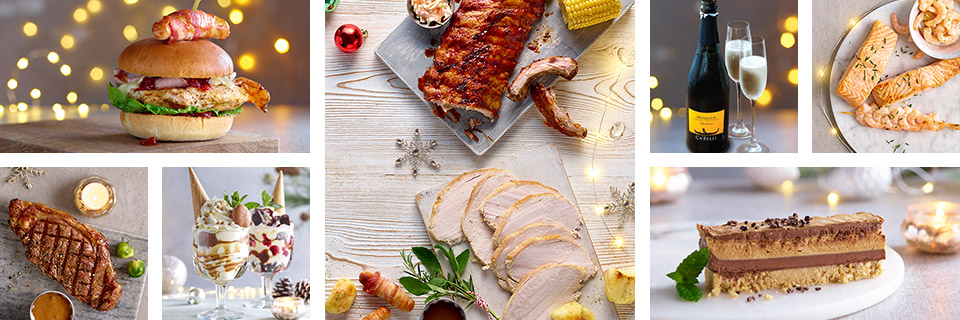 Festive dishes available at Harvester this Christmas