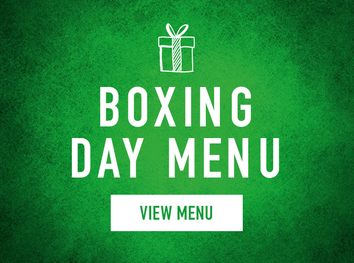 Boxing Day menu at Harvester