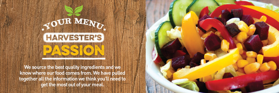 Nutritious fresh ingredients, healthy dining out at Harvester