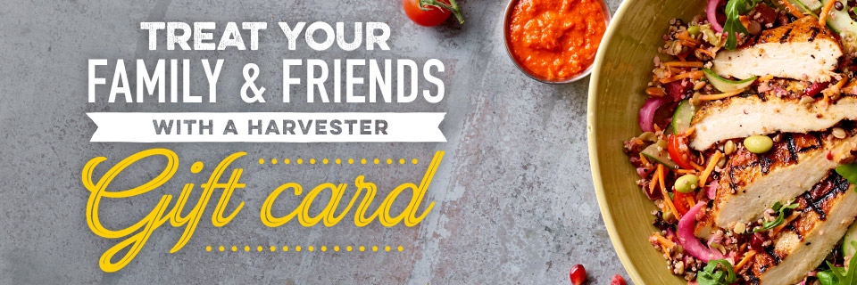 Purchase a Harvester Gift Card