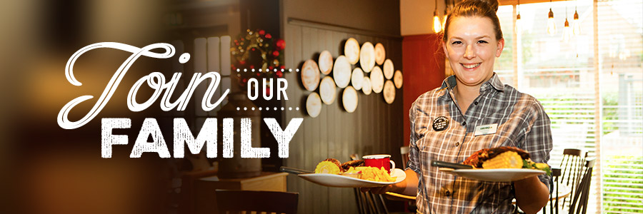 Join our family at Harvester