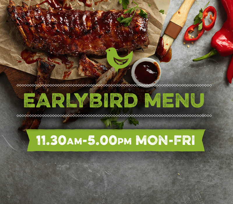Earlybird menu at Harvester