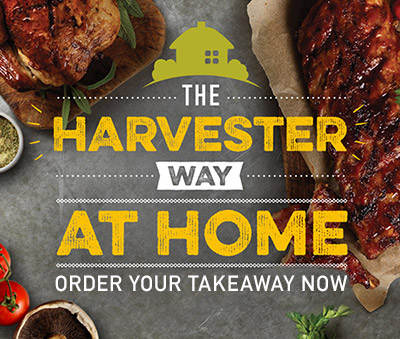 Harvester at home - book your takeaway online now!