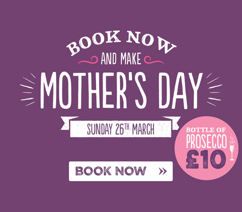 Book now for Mother's Day at Harvester