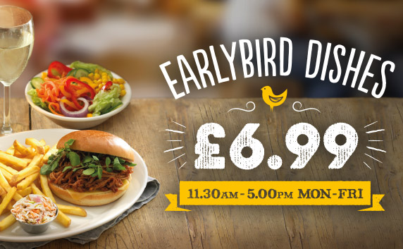 Our Set menu for you Early Birds