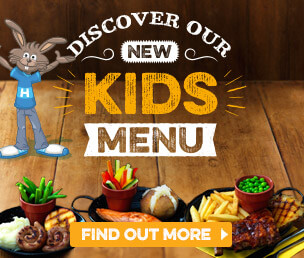 Discover our new Kids Menu here at Harvester Trentham Lakes