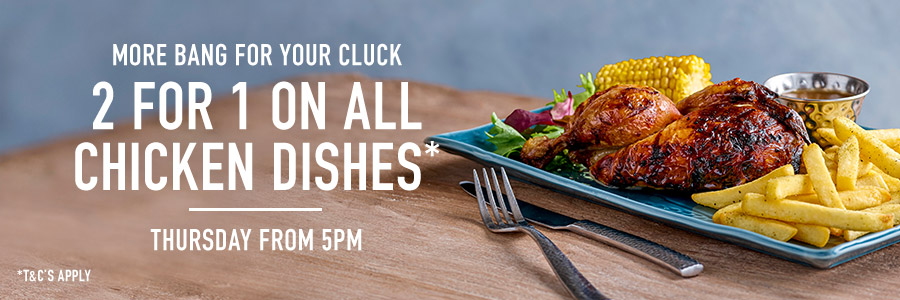 2-4-1 Chicken Offer at Harvester