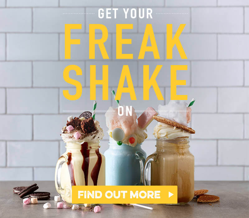 Freak Shakes at Harvester