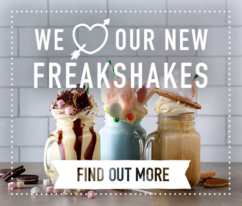We love our new Freakshakes at Harvester