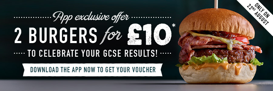 A Level Offer at Harvester Crawley Leisure Park