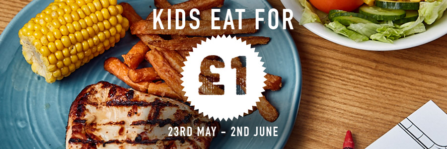 Kids Eat For £1 at Harvester Coed-Y-Gores