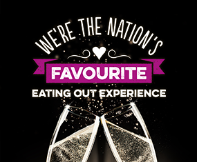 We're the nation's favourite eating out experience